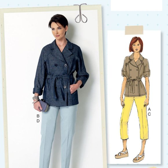 Butterick Safari Trench Coat & Pants Uncut Pattern